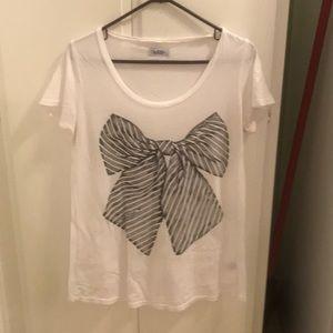 Lauren Moshi size large bow tie t-shirt